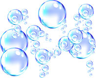 Bubbles background. Abstract blue water bubbles background Royalty Free Stock Photography