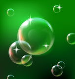 Bubbles background. Bubbles on green background , EPS10 Royalty Free Stock Image
