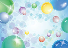 Bubbles background. Vector background of a multiples bubbles in eps Royalty Free Stock Photography