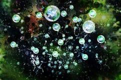 Bubbles background Stock Photo