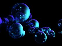 Bubbles background. A beautiful 3D rendered bubbles background Stock Images