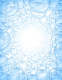 Bubbles background in perspective with center glow Royalty Free Stock Images