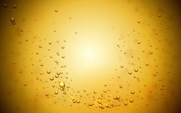 Bubbles background in yellow tone. Abstract background with bubbles in yellow tone, 3d illustration Stock Image