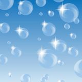 Bubbles bakgrund Fotografering för Bildbyråer