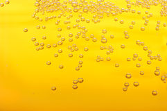Bubbles in beer. Thousands of small bubbles in beer Stock Image