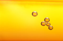 Bubbles in beer. Thousands of small bubbles in beer Royalty Free Stock Photography