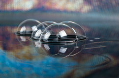 bubbles bildspegeln arkivfoto