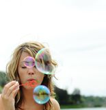 Bubbles blowing Stock Image