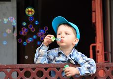 Bubbles blowing Royalty Free Stock Images