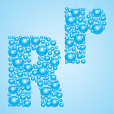 Bubbles in blue. Alphabet of bubbles. Eps 10. Royalty Free Stock Photography