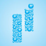 Bubbles in blue. Alphabet of bubbles. Eps 10. Royalty Free Stock Photos