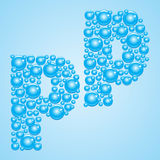 Bubbles in blue. Alphabet of bubbles. Eps 10. Stock Photos
