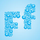 Bubbles in blue. Alphabet of bubbles. Eps 10. Stock Image