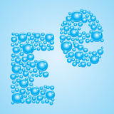 Bubbles in blue. Alphabet of bubbles. Eps 10. Royalty Free Stock Images