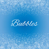 Bubbles  on blue background, Royalty Free Stock Photography
