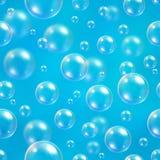 Bubbles blue blur background Stock Photos