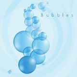 Bubbles in Blue Royalty Free Stock Images