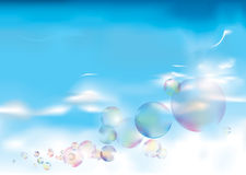 Bubbles on blue Sky Stock Photography