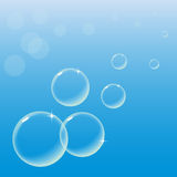 Bubbles on Blue Sky Royalty Free Stock Images
