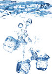 Bubbles in blue water Stock Image