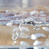 Bubbles boiling water in electric kettle Royalty Free Stock Image
