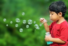 Bubbles boy Royalty Free Stock Photo