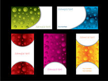 Bubbles business card set Royalty Free Stock Image