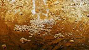 Bubbles caused by water flow. Bubbles caused by the flow of water that is beautiful royalty free stock photo