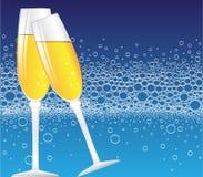 bubbles champagne Royaltyfri Bild