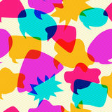 Bubbles Chat Icons Intersect in Seamless Pattern. Different Bubbles Chat Icons Intersect in Seamless Pattern. Vintage Background Royalty Free Stock Photos