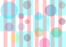 Bubbles Checkers & Stripes. Checker pattern with floating multi-colored bubbles with pink stripes Stock Photos