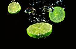 bubbles citronen Royaltyfri Fotografi