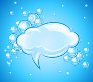 Bubbles cloud in water for message Stock Images
