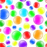 Bubbles color background vector Stock Photography