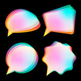 Bubbles color blurred Stock Photo