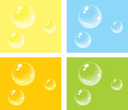 Bubbles on colored backgrounds Stock Images