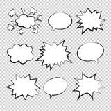 Bubbles comic style vector duddle illustration Stock Photos