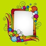 bubbles den färgrika ramvektorn Royaltyfri Foto