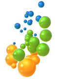bubbles den glass orangen stock illustrationer