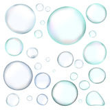 bubbles den realistiska vektorn Arkivbilder