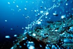 bubbles den undervattens- geyseren Royaltyfri Fotografi