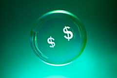 Bubbles and dollar sign Stock Photography