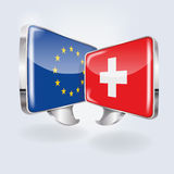 Bubbles with Europe and Switzerland Stock Photo