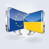 Bubbles with Europe and Ukraine Royalty Free Stock Images