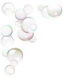 bubbles färgrik gjord tvål fotografering för bildbyråer
