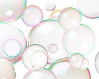 bubbles färgrik tvål arkivbild