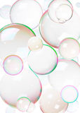 bubbles färgrik tvål royaltyfria foton