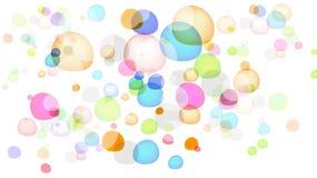 bubbles färgrikt royaltyfri illustrationer