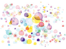 bubbles färgrikt stock illustrationer