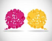 bubbles färgrikt dialoganförande Arkivfoton